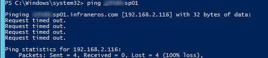 domain controller ping failed