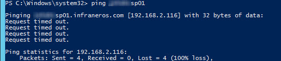 domain controller ping failed