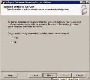 include withness server Database Mirroring