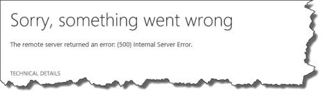 something went wrong error