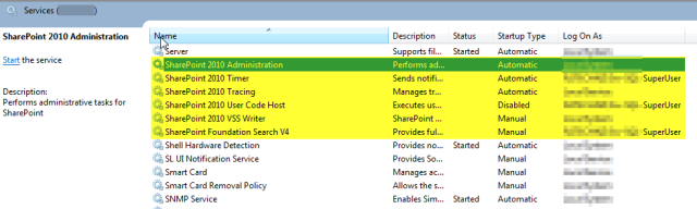 Stop SharePoint Admin Service