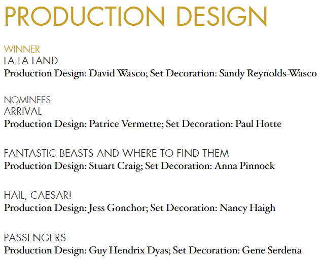 production-design